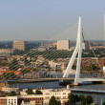 Erasmus bridge from Euromast — Stock Photo