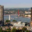 Rotterdam and river Maas — Stock Photo