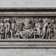 relief at arc de triomphe. paris, france — Stock Photo