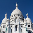 Sacre Coeur - famous cathedral in Paris, — Stock Photo