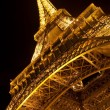 Eiffel Tower by night. Close view — Stock Photo