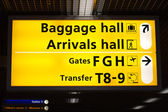 Information sign in airport — Stock Photo