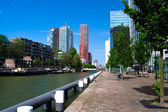 Residential houses. Central Rotterdam — Stock Photo