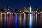 Willems bridge of Rotterdam. NIght view — Stock Photo