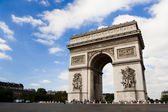 Arch of Triumph. Day time. Paric, France — Stockfoto