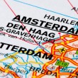 Stock Photo: Road map of The Netherlands