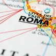 Royalty-Free Stock Photo: Road map around Rome