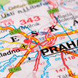 Royalty-Free Stock Photo: Road map around Prague