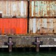 Stacked containers in port — Stock Photo