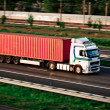 Freight truck on motorway — Foto de Stock