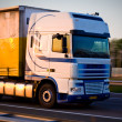 Freight truck on move — Stock Photo