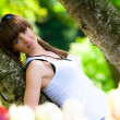 Beautiful girl in a park — Stock Photo #1107240