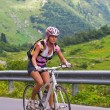 Uphill on a bicycle — Stock Photo #1107378
