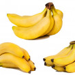 Royalty-Free Stock Photo: Set of banana pictures. Isolated on whit