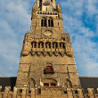 Clock tower in Brugge, Belgium — Stock Photo #1152589