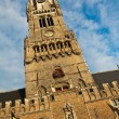 Clock tower in Brugge, Belgium — Stock Photo