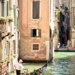 Gondola on a canal of Venice. Italy — Stock Photo #1153200