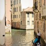 Gondola on a canal of Venice. Italy — Stock Photo #1153215