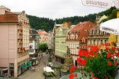 Karlovy Vary. Central street — Stock Photo