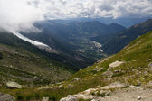 Chamonix valley in France Alps — Stock Photo