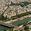 Paris and Seine river — Stock Photo