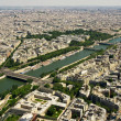 Paris and Seine river — Foto Stock