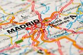 Road map around Madrid — Stock Photo
