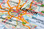 Road map around London — Stock Photo