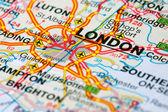 Road map around London — Stock Photo