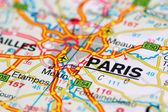 Färdplanen runt paris — Stockfoto
