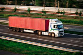 Freight truck on motorway — Stock Photo