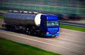 Tanker truck on motorway — Stock Photo