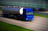 Tanker truck on motorway — Stock Photo