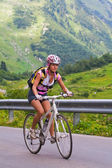 Uphill on a bicycle — Stock Photo