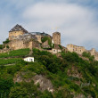 Old castle on  hill - Stock Photo