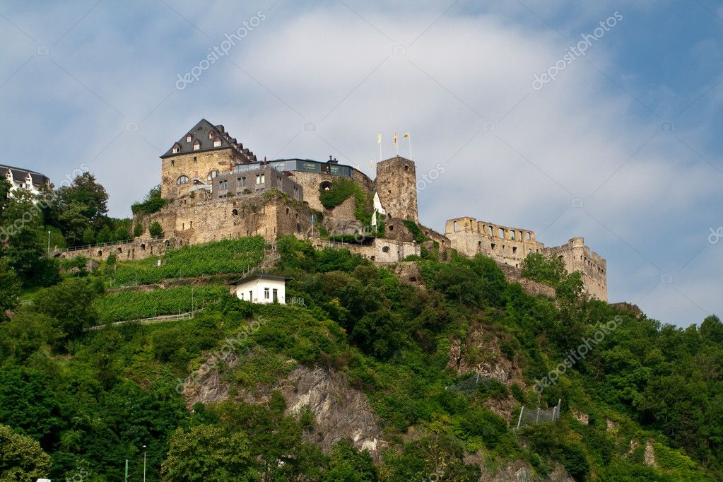 Old castle on hill. From the series Castles on the Rhine river — Zdjęcie stockowe #1809013