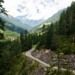 Mountain road in Austrian Alps — Stock Photo
