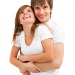 Happy laughing couple — Stock Photo