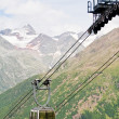 Cable car high in the mountains — Stock Photo