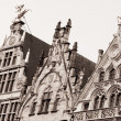Old houses in Antwerpen — Stock Photo