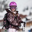 Young woman on ski resort — Stock Photo