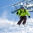 Off-piste skiing — Foto Stock