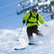 Off-piste skiing — Stockfoto