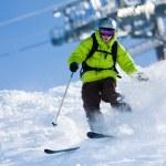 jazdy na nartach — Zdjęcie stockowe