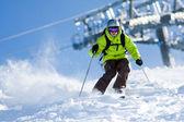 Off-piste skiën — Stockfoto