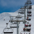 Stock Photo: Ascend on chairlift