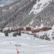 View on the alpine ski resort — Stock Photo