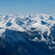 Wide panorama of French Alps — Stock Photo