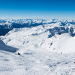 Panorama of ski pistes — Stock Photo