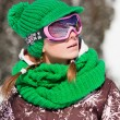 Young skier smiling — Stock Photo #2599894